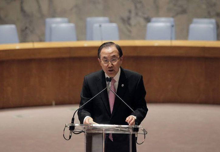 El secretario general de las Naciones Unidas, Ban Ki-moon. (EFE)