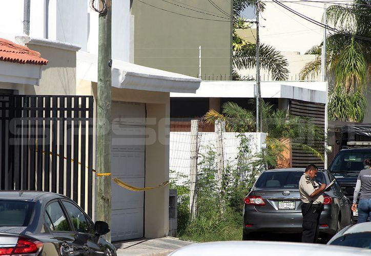 La casa fue acordonada para las investigaciones pertinentes del suceso.  (Jorge Pallota/SIPSE)
