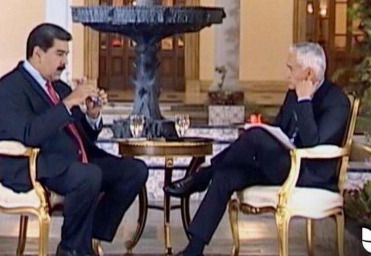 El tono de la conversación incomodó a Maduro desde la primera pregunta. (Internet)