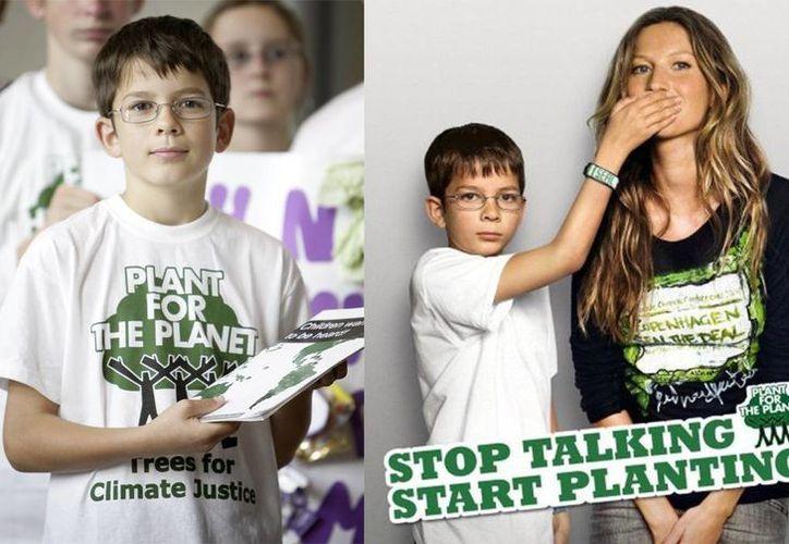 """Félix Finkbeiner continúa con su campaña """"Stop Talking, Start Planting"""". (Cortesía/SIPSE)"""