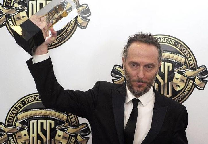 """Emmanuel Lubezki ya ha recibido en cuatro ocasaiones el premio de la Asociación de Cinematógrafos, por  """"Birdman"""", """"Gravity"""", """"The Tree of Life"""" y """"Children of Men"""". Este 14 de febrero espera llevarse el galardón una vez más. (Archivo EFE)"""