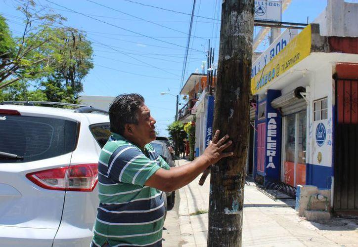 Autoridades municipales de Tulum han retirado dos toneladas de publicidad en postes en lo que va de 2016. (Sara Cauich/SIPSE)