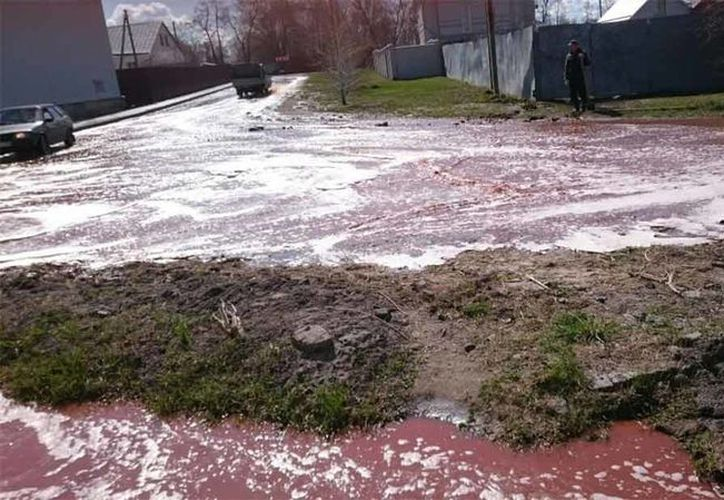 El torrente de jugo de fruta llegó hasta el río Don. (Foto: Excélsior)