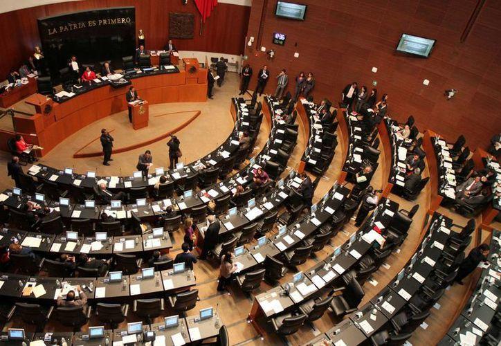 Los senadores aprobaron que los temas en materia electoral y seguridad nacional no podrán ser sometidos a consulta pública. (Notimex)