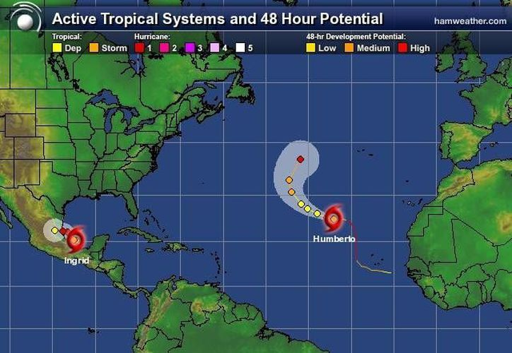 "Tormenta topical ""Humberto"" no representa peligro para Q. Roo. (espanol.weather.com)"