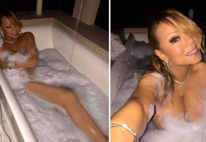 Mariah Carey se mostró sexy como pocas veces, en redes sociales. (Foto tomada de minutouno.com)