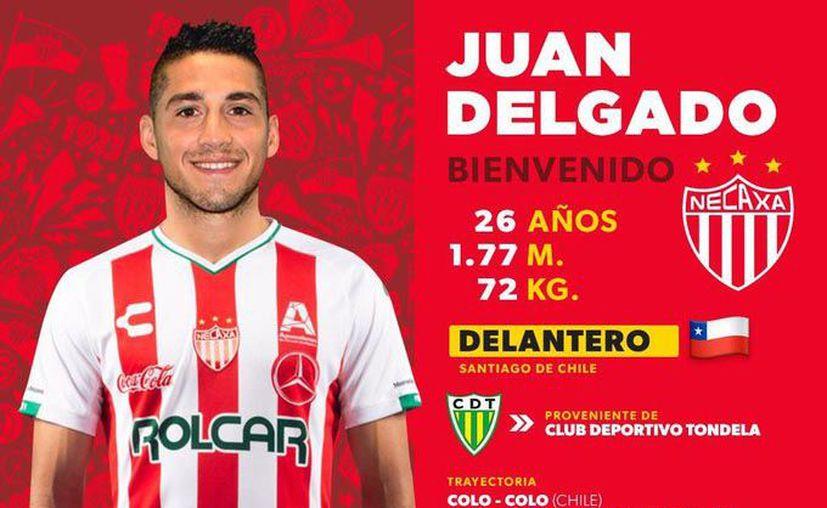 Juan Antonio Delgado Baeza, refuerzo del Necaxa para el Apertura 2019. (Foto: Twitter)