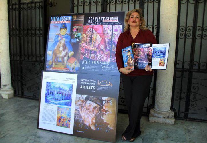 La obra de Malena Peón ya ha sido reconocida por pintores a nivel mundial. (SIPSE)