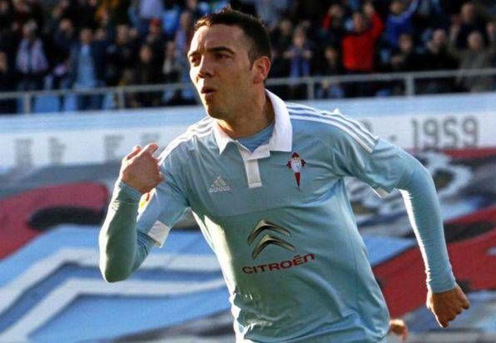 El delantero Iago Aspas (foto) fue el único anotador del encuentro. (Foto tomada de Facebook/Real Club Celta)