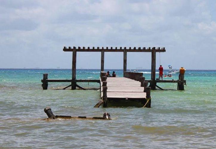 Así luce el Muelle Rústico de Playa del Carmen. (Daniel Pacheco/SIPSE)