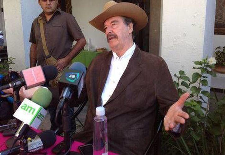 El ex presidente Vicente Fox se mostró en contra de que se haya condonado deuda a Cuba. (Jannet López/Milenio)