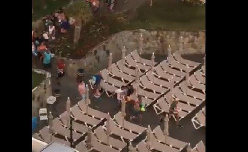 Esta competencia se ha trasladado a las piscinas de los hoteles. (Twitter)