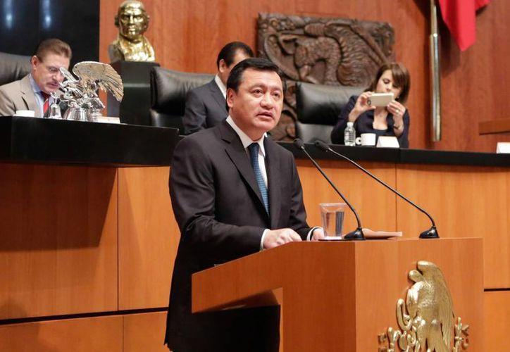 Comparecencia del secretario de Gobernación, Miguel Ángel Osorio Chong en el Senado de la República. (Notimex)