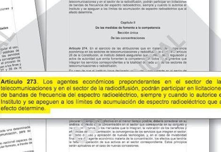 Este es el borrador de la iniciativa de decreto que pretende imponer sanciones más fuertes a agentes de mercado principales que incumplan normas. (Milenio)