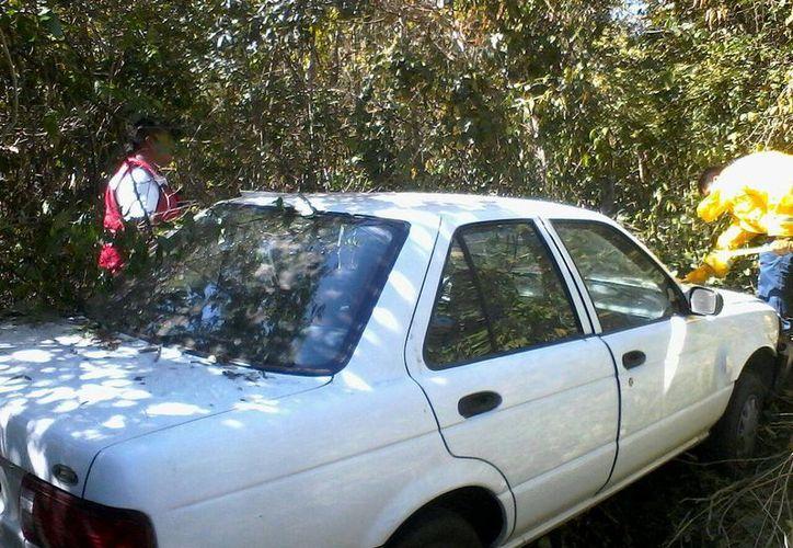 El accidente se registró en el tramo de San Pedro a Cedral. (Raúl Balam/SIPSE)