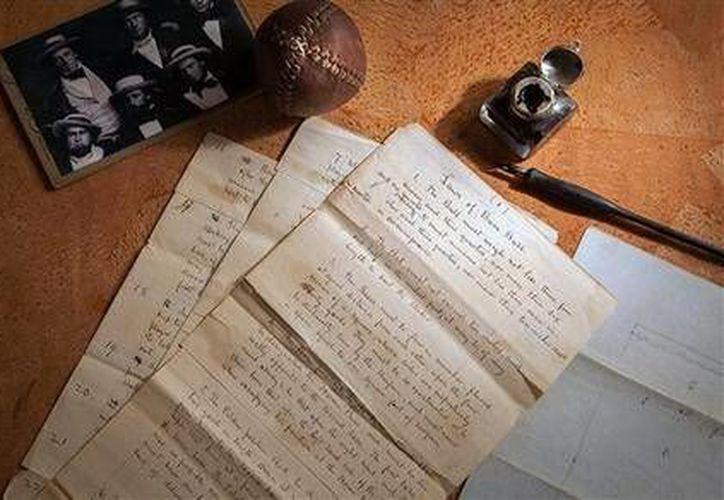 Los documentos que datan de 1857 con el título 'Laws of Base Ball', fueron subastados por 3.3 millones de dólares. (AP)
