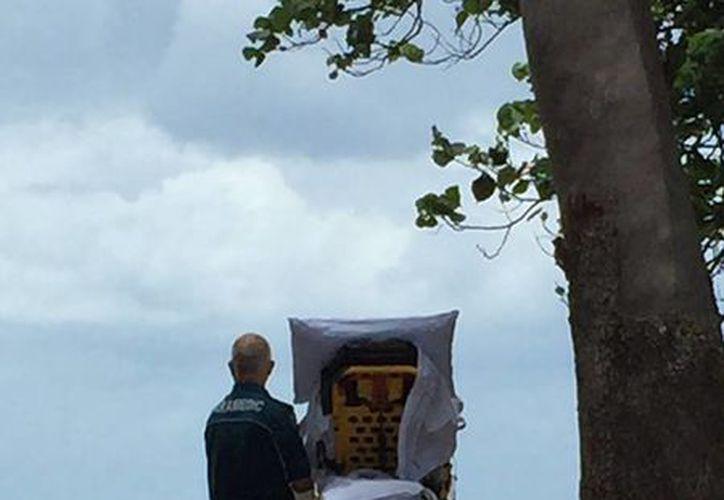 Paramédicos compartieron la imagen del íntimo momento frente al mar. (Foto: Queensland Ambulance Service)