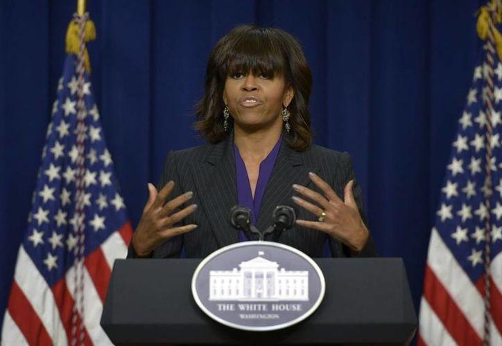 Según testigos, la primera dama se mostró visiblemente molesta por la interrupción. (Archivo/EFE)