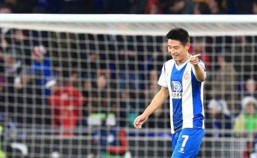 Wu Lei escribió su nombre con letras de oro en la historia de la Liga de España a pocos minutos de que terminara el duelo (Foto: @LaLiga)