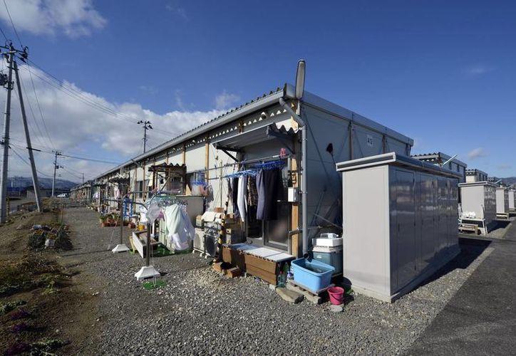 Viviendas provisionales de Minami-Yanome, a 60 kilómetros de la planta de la central de Fukushima Daiichi, Japón. (EFE)