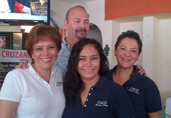 Representantes del Colegio de Cirujanos Dentistas Sección Riviera Maya. (Daniel Pacheco/SIPSE)