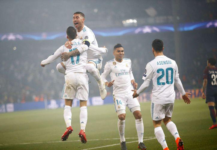 El Real Madrid exhibió su gen competitivo en el Parque de los Príncipes. (AP)