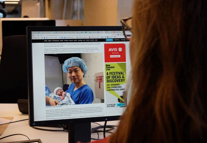 El nacimiento del bebé se dio a conocer por sorpresa en 'New Scientist'. (internacional.elpais.com)