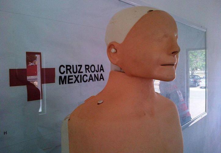 Cada maniquí para entrenamiento de urgencias médicas tiene un costo de 17 mil pesos.  (Daniel Pacheco/SIPSE)