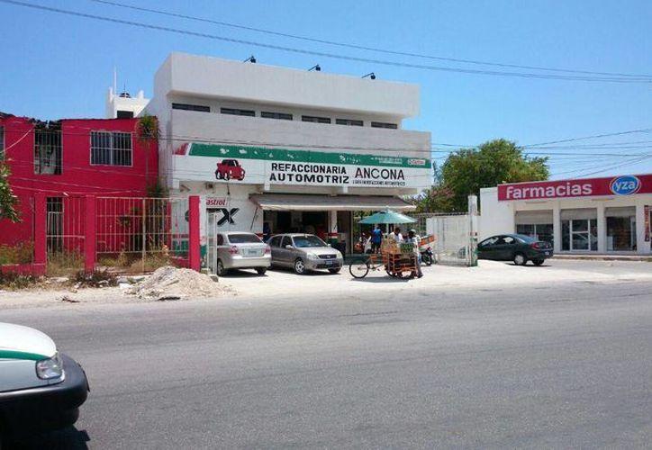"""La refaccionaria """"Ancona"""" se ubica en la Región 233. (Redacción/SIPSE)"""
