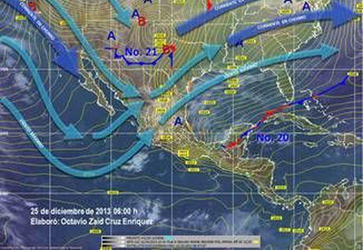 En la Península de Yucatán loas probabilidades de lluvias son de fuerte a muy fuertes. (Redacción/SIPSE)