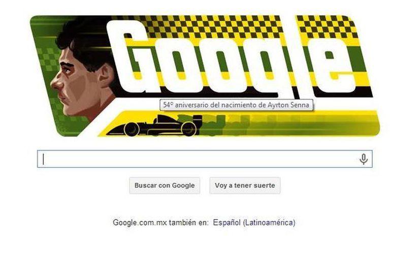 El doodle es acerca del piloto Ayrton Senna, uno de los deportistas más importantes en la historia de Brasil. (Google)