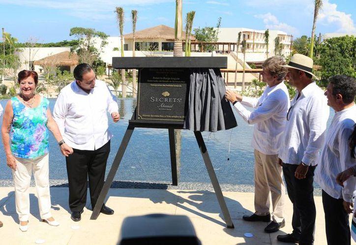 Este martes se inauguró el hotel Secrets Akumal. (Adrián Barreto/SIPSE)