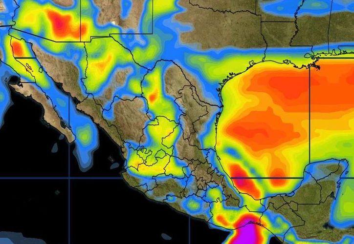 El pronóstico meteorológico para Cancún indica cielo despejado a medio nublado durante el día. (Conagua)
