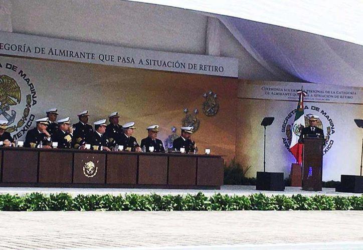 Este viernes, diez elementos de la Marina pasaron situación de retiro. (Facebook/Secretaría de Marina)