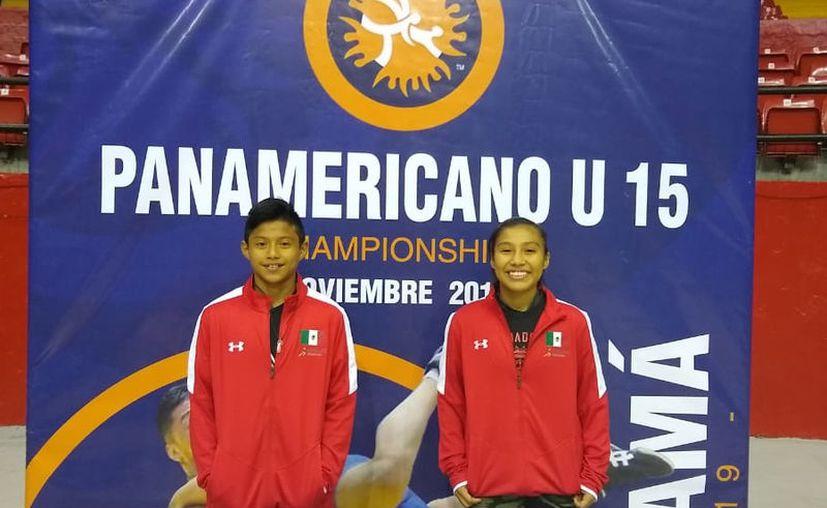 Roger Kantún Ku y Yamilet Ortiz Contreras tuvieron destacada participación en el Campeonato Panamericano U-15.