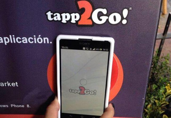 Se trata del primer servicio que utiliza esta tecnología en México. (twitter.com/tapp2go)