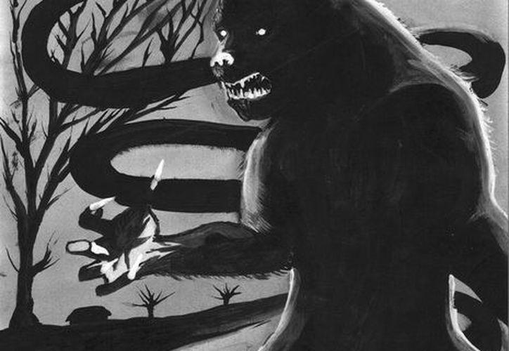 Descripción del enorme perro que vio el policía en el monte de Texán Palomeque. (Jorge Moreno)