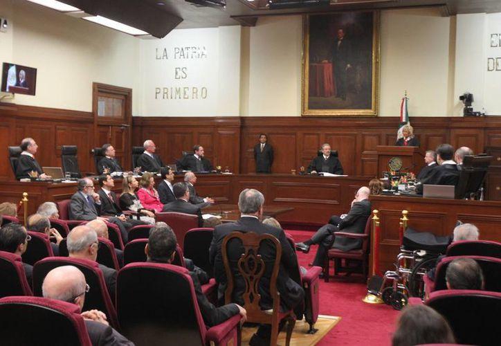 El pleno de ministros declaró la invalidez de algunos artículos de las legislaciones en materia de extinción de dominio de los estados de Coahuila y Michoacán. (Archivo/Notimex)
