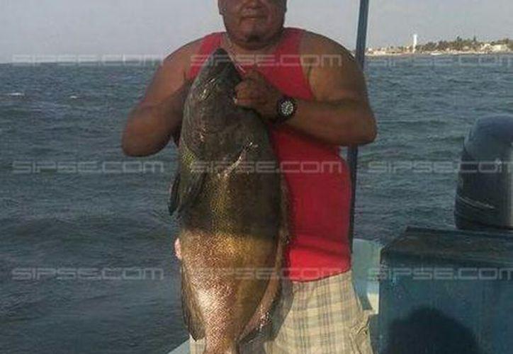 Efraín, de 35 años de edad, falleció cuando capturaba pepino de mar, en Celestún. (Especial)