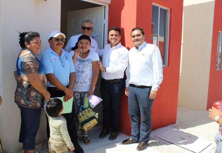 Las primeras 70 casas del desarrollo inmobiliario  'El Encanto Cozumel' fueron entregadas a sus dueños. (Redacción/SIPSE)