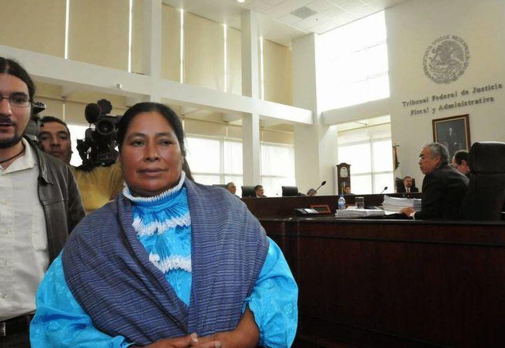 Jacinta Francisco Marcial es una de las tres indígenas que fueron acusadas de secuestrar a agentes policiales en 2006. (News Graphic)