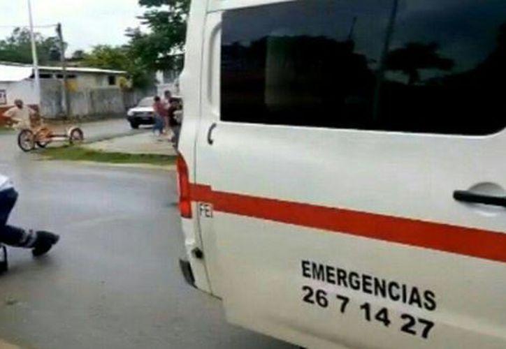 Al lugar arribaron paramédicos de la Cruz Roja. (Redacción/ SIPSE)