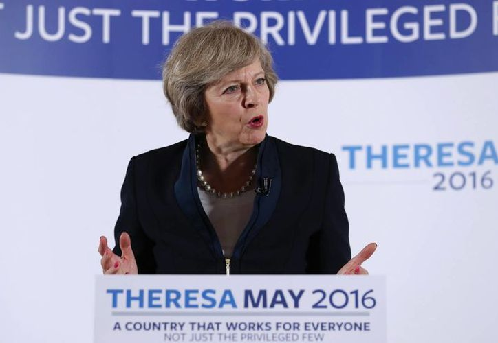 Theresa May estaba a favor de la permanencia británica en la UE. (Agencias)