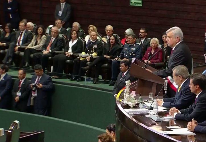 Andrés Manuel, envía mensaje a la nación, desde el Palacio de San Lázaro. (Foto: Televisa)