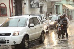Se desata un aguacero en Mérida