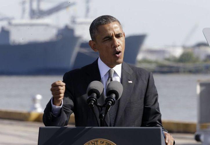 El discurso emitido por Obama en el Puerto de Nueva Orleans estuvo enfocado en la economía. (Agencias)