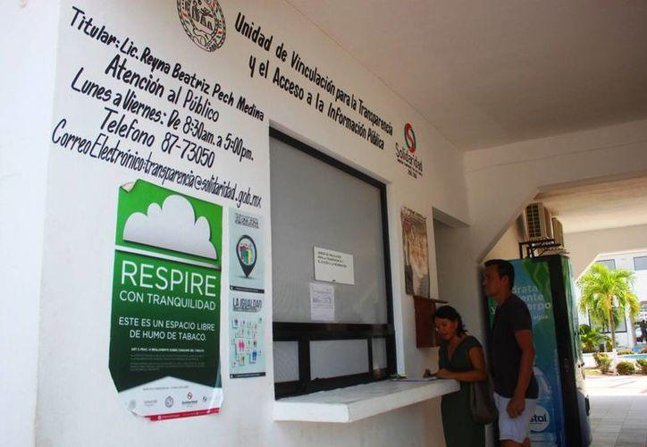 La unidad de transparencia del municipio continúa sus labores a pesar de la desaparición del Utaippe. (Daniel Pacheco/SIPSE)