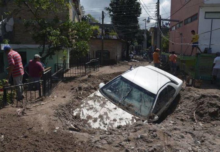 Daños ocasionados por el huracán Manuel en Chilpancingo, Guerrero, en septiembre del año pasado. (Agencias)