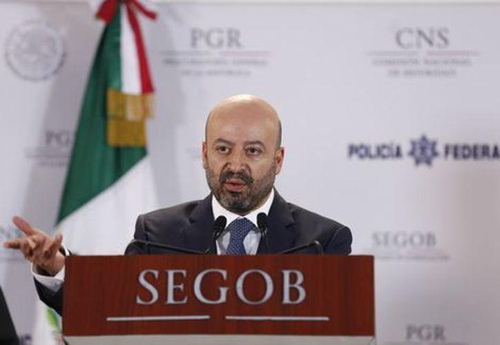 El comisionado nacional de Seguridad, Renato Sales, dio el informe del operativo. (Foto: Milenio.com)
