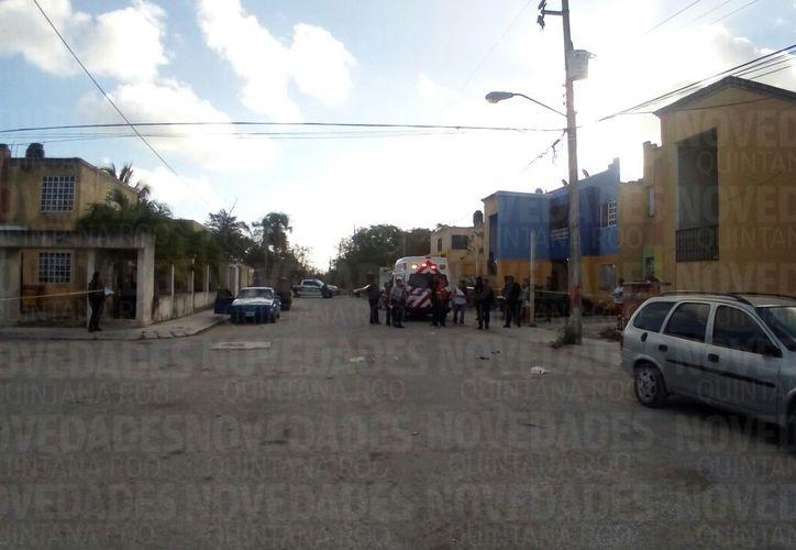 La zona fue acordonada por las Policía Municipal. (Eric Galindo/ SIPSE)